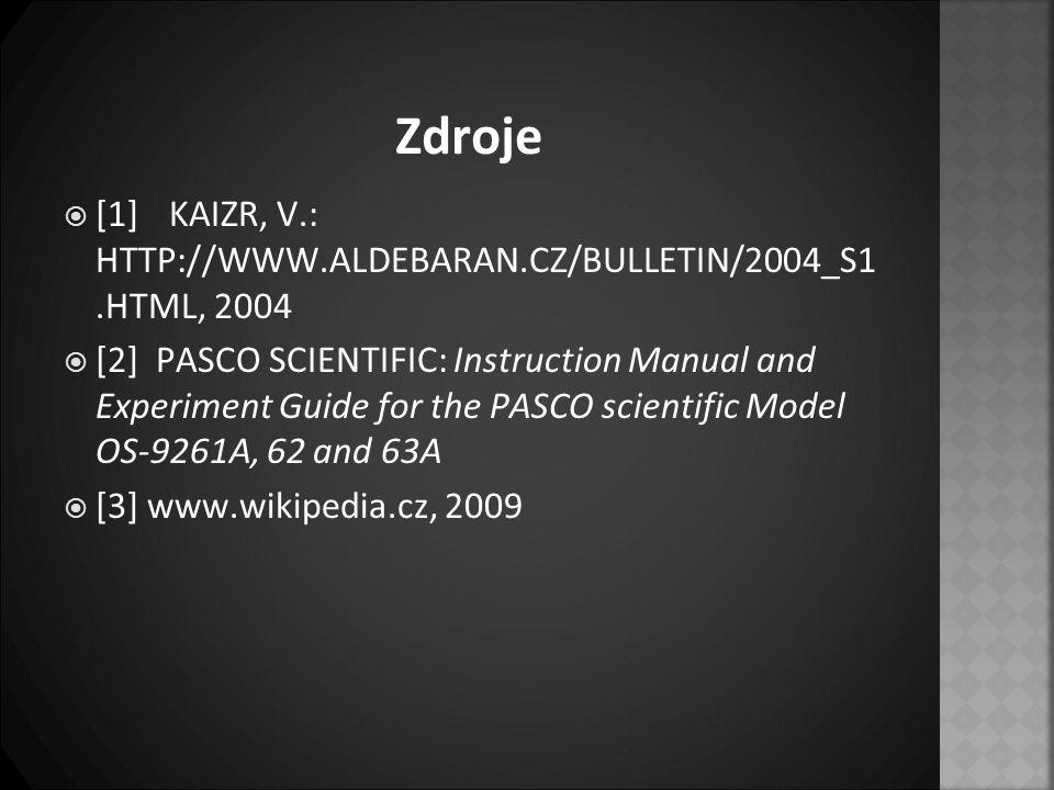 Zdroje [1] KAIZR, V.: HTTP://WWW.ALDEBARAN.CZ/BULLETIN/2004_S1 .HTML, 2004.
